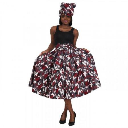 WOMEN AFRICAN BOW TIE SHORT SKIRT 16321-99